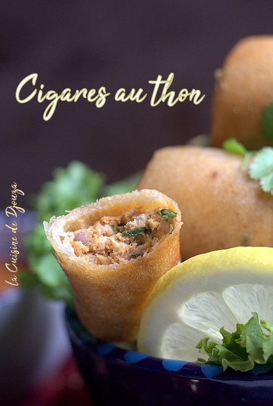 Cigares au thon et oeufs durs