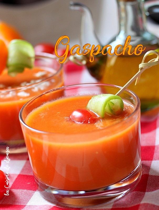 Recette de gaspacho aux légumes frais