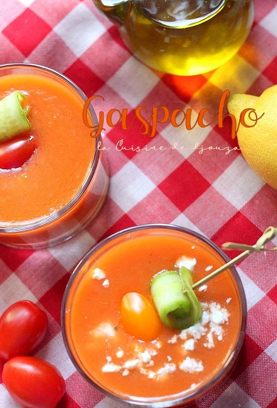Gaspacho aux tomates fraiches