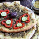 Man'ouché, pain libanais au zaatar