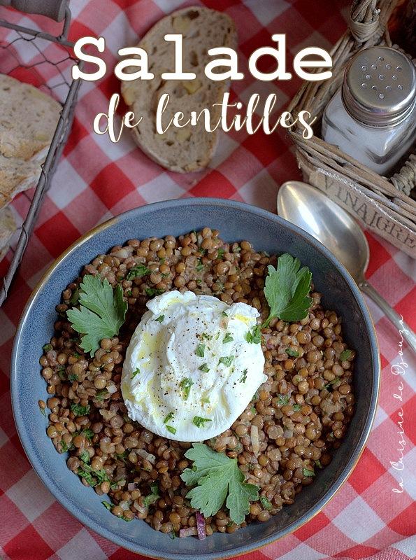 Salade de lentilles lyonnaise, spécialité du bouchon lyonnais