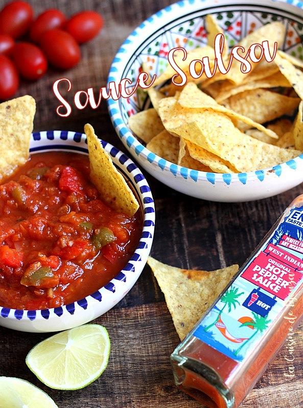 Recette Sauce salsa mexicaine maison