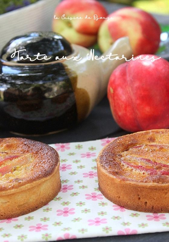 tarte nectarines et frangipane