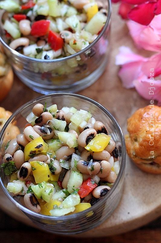 Salade de haricot cornille