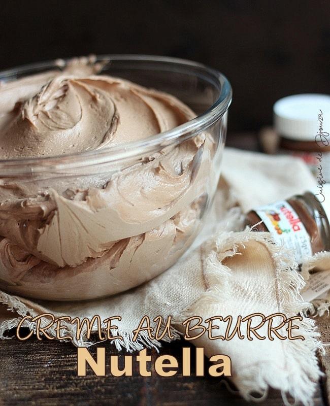 Creme au beurre Nutella®facile