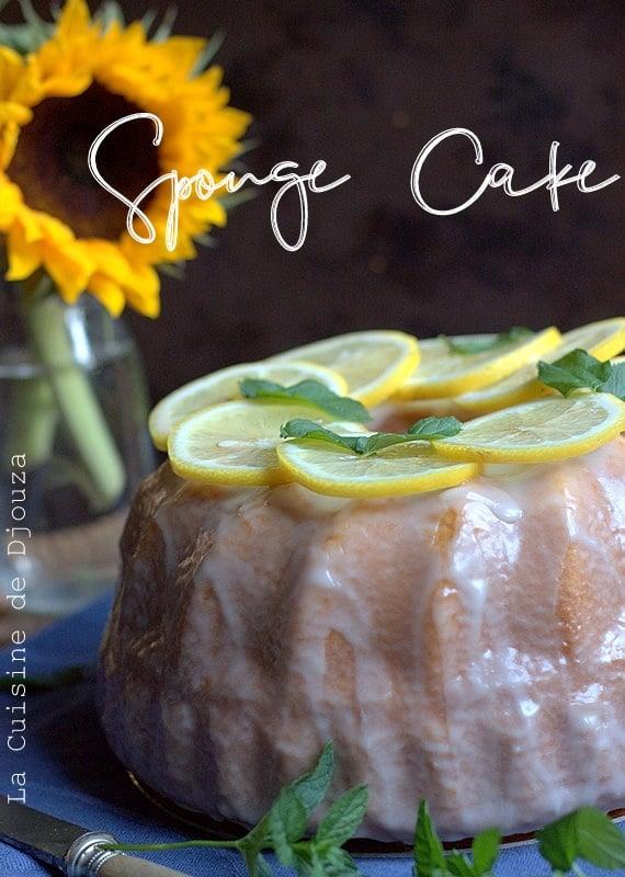 Gateau sponge cake au lait chaud