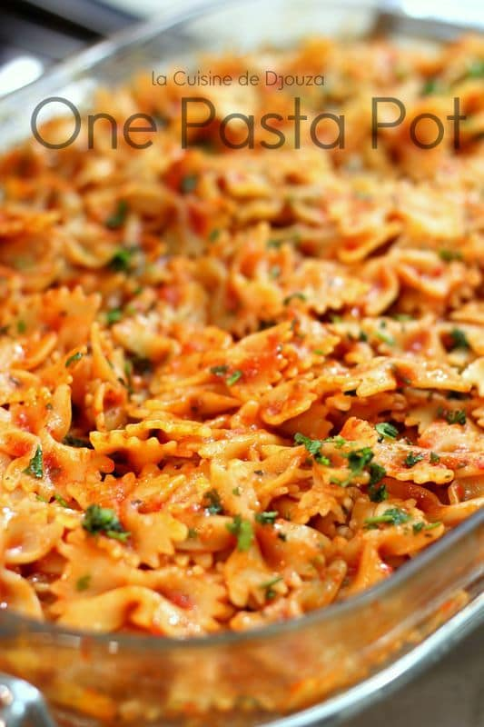 Pasta one pot aux farfalles