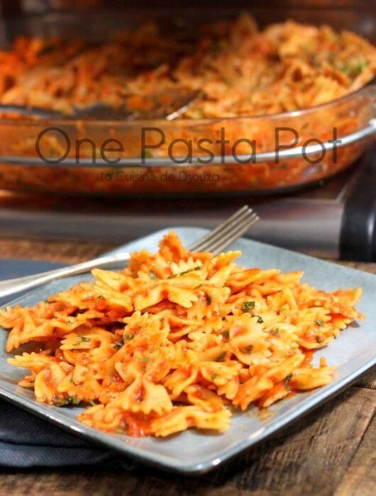 Recette One pasta pot de farfalles