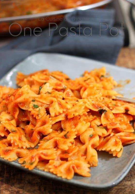 Pasta one pot à la sauce tomate