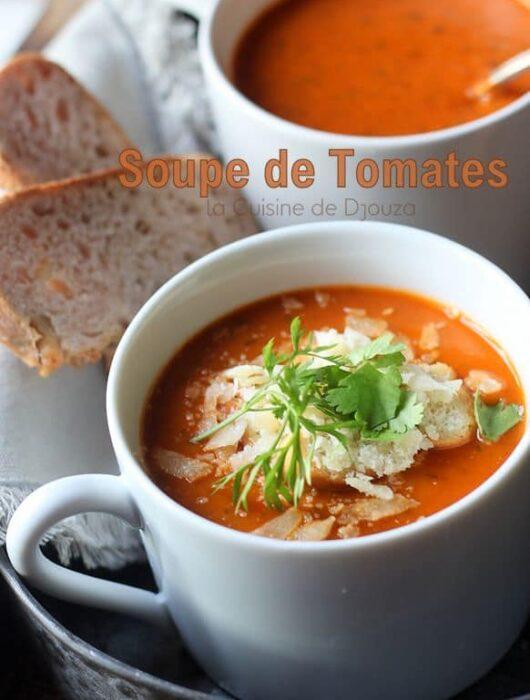 Soupe de tomates en boite