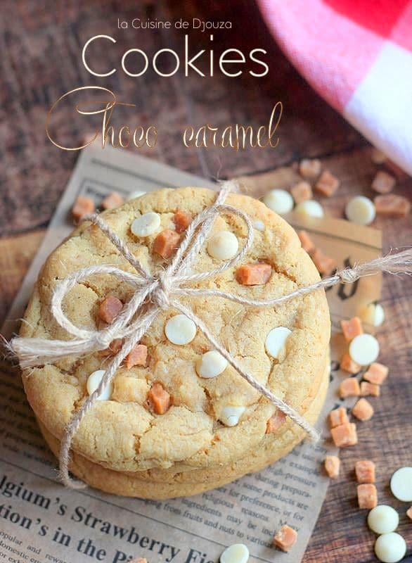 Cookies chocolat blanc caramel