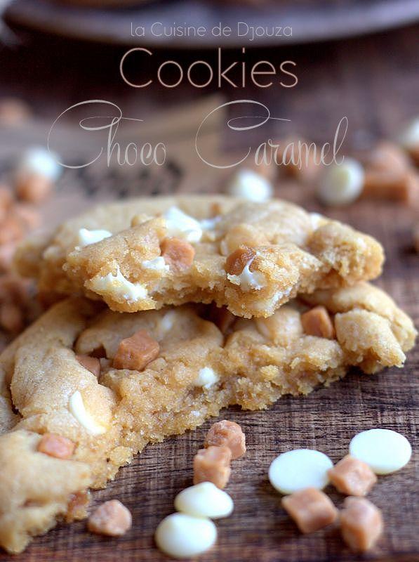 vue intérieur du cookie choco et caramel