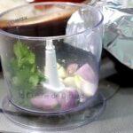 mixer ail echalote coriandre