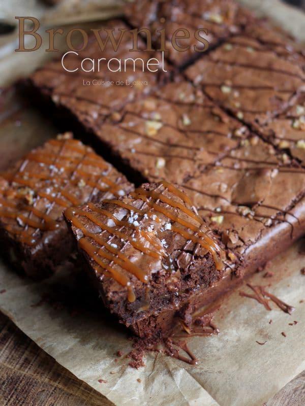 Brownies caramel chocolat noix