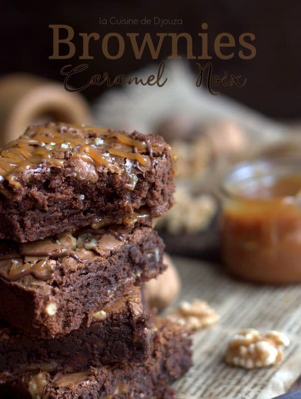 Brownie au chocolat caramel