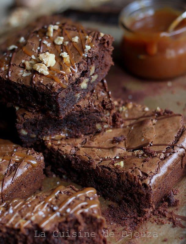 Recette de Brownies chocolat caramel noix