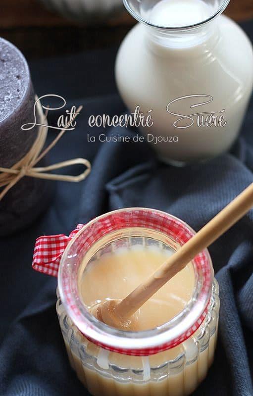 recette rapide du lait concentré sucré
