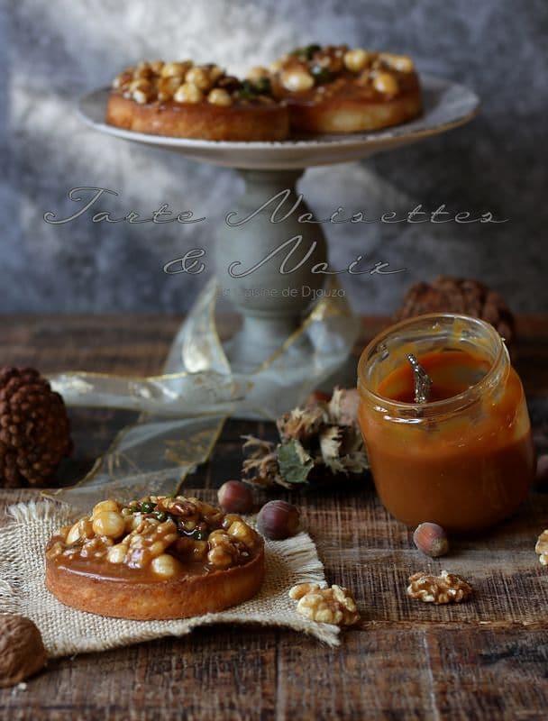 Tartelette aux fruits secs noisettes noix