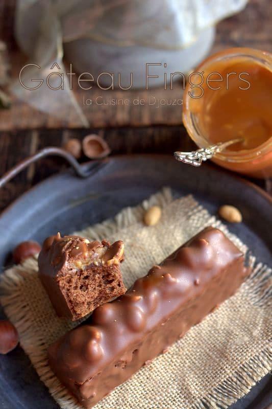 gateau fingers noisettes et cacahuètes