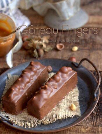 gâteau fingers caramel noisettes et cacahuètes