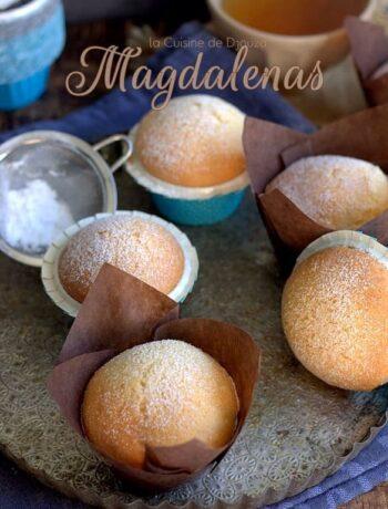 Madeleines magdalenas au citron et crème