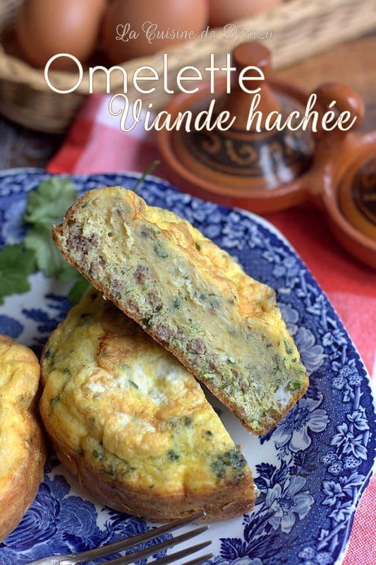 Recette d'omelette à la viande hachée facile