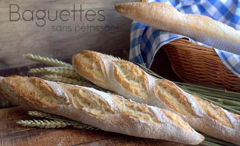 pain sans pétrissage de la boulangerie