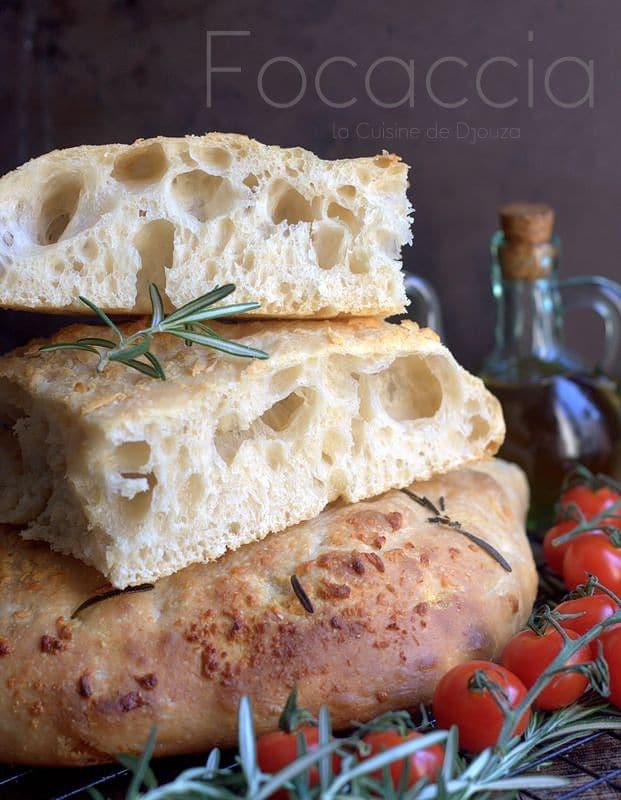 Focaccia au parmesan ail et romarin facile