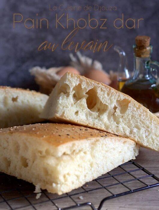 pain familial khobz dar à la farine et au levain poolish