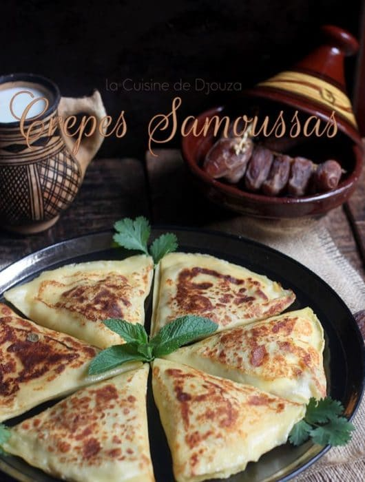 Crêpes samoussas viande et fromage