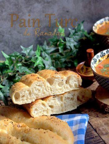 Pain turc du ramadan sans pétrissage