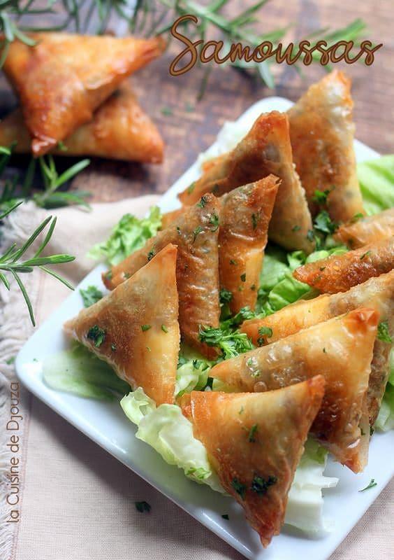 Samoussas à la viande hachée et fromage