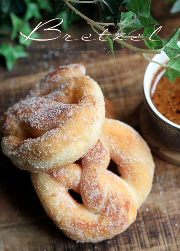 Beignets bretzel au sucre vanille