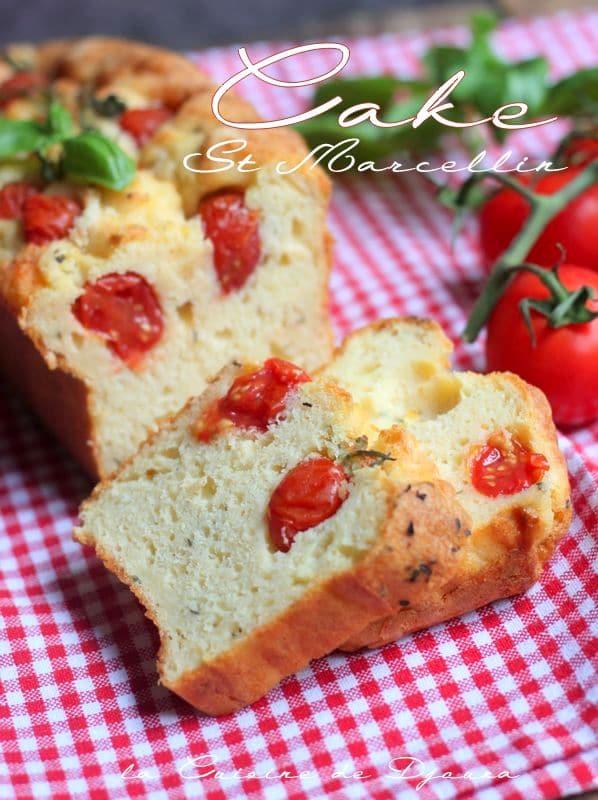 recette de cake salé facile au st marcellin et tomates cerises