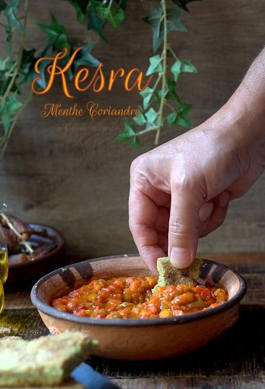 Kesra aux herbes aromatiques