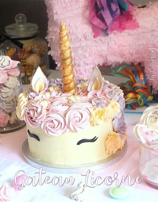 gâteau licorne raimbow