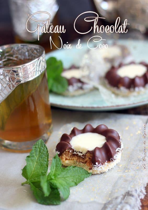 Gâteau coque chocolat et noix de coco