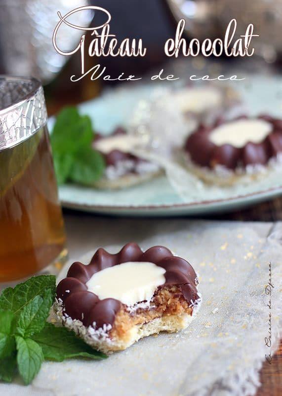 Gâteau algérien de l'aid noix de coco chocolat