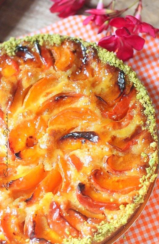 Tarte aux abricots frais