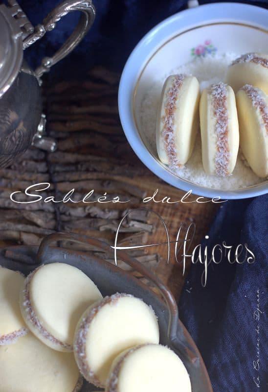 Alfajores biscuits fondants au caramel