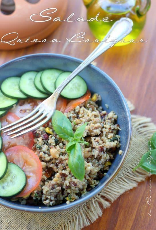 recette de quinoa boulgour en salade