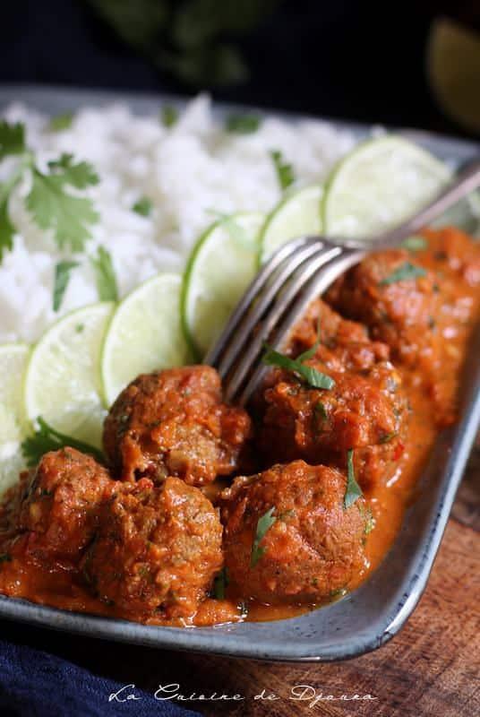 Recette curry de kofta indien facile