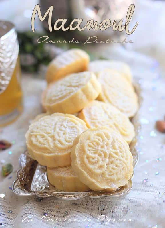 Gâteau ma3moul amande et pistache