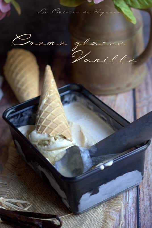 glace crème anglaise vanille