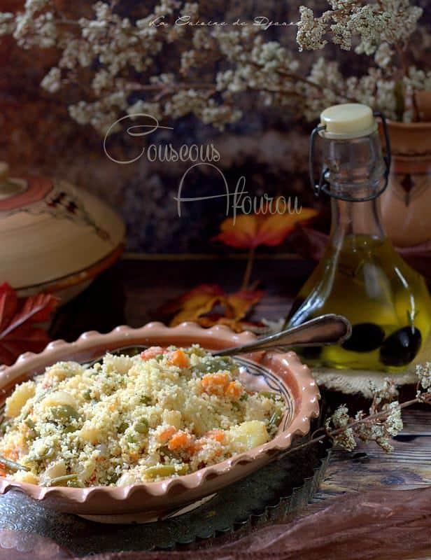Couscous aux légumes à la vapeur afourou