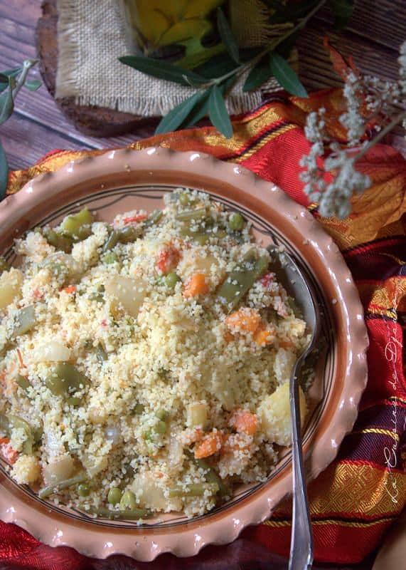 Couscous kabyle avec légumes à la vapeur