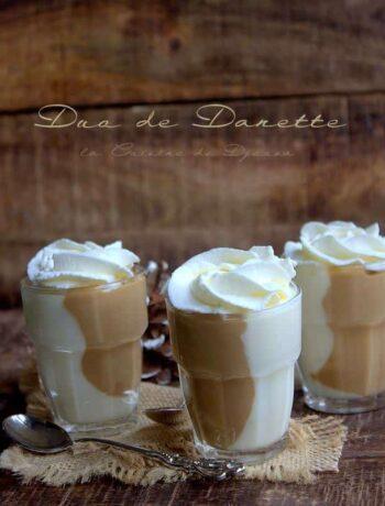 Crème dessert façon danette chocolat blanc et café