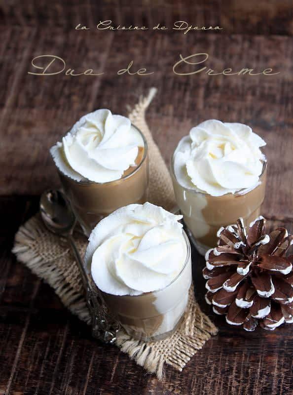 Crème danette ou crème dessert chocolat café sans oeuf