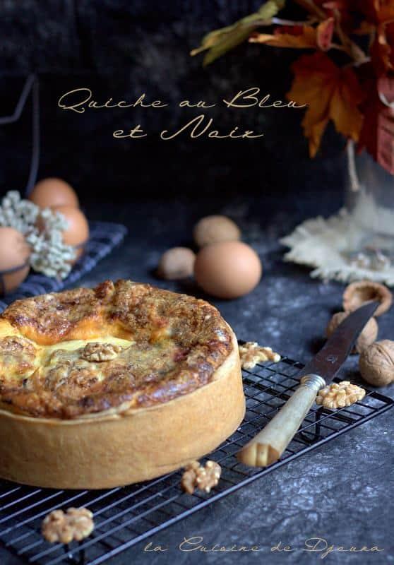 Quiche au fromage de bresse bleu et noix concassées