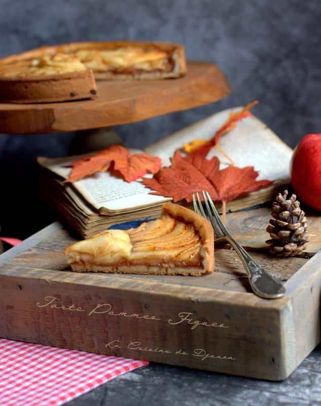 gateau pomme gourmand avec compote de figue